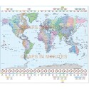 Gall Projection World Time Zones Map @10M scale Style 2