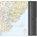 Uruguay Deluxe Map 1st level Departments and Country fills @7,500,000 scale