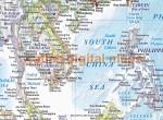 "VINYL World Map Print Political & Relief light - Large Size 60""wx 38""d"