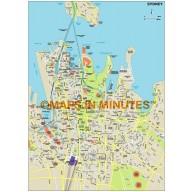 Sydney city map in Illustrator CS or PDF format