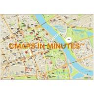 Warsaw city map in Illustrator CS or PDF format