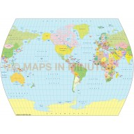 Times Projection @100m scale US centric world map