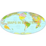 Hammer Projection @100m scale US centric world map