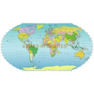 Robinson Projection (UK centric) @ 50M scale