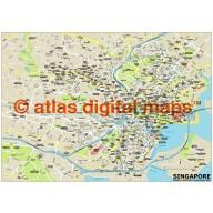 Singapore city map in Illustrator CS or PDF format