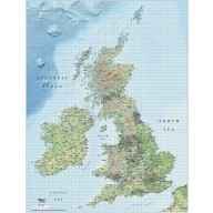 British Isles UK County map Illustrator AI CS/CC vector format, 1m scale with detailed Regular colour shaded Relief. Fully layered and 100% editable.
