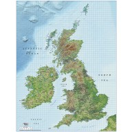 British Isles UK County map Illustrator AI CS/CC vector format, 1m scale with detailed Medium colour shaded Relief. Fully layered and 100% editable including fonts.