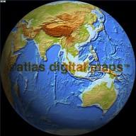 Relief Globe 0N 100E