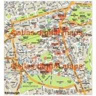 Edinburgh city map in Illustrator CS or PDF format