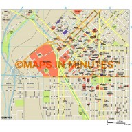 Denver city map in Illustrator CS or PDF format