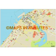 Dubai City map in Illustrator CS or PDF format