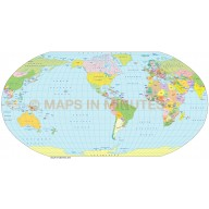 Robinson Projection @100m scale US centric world map