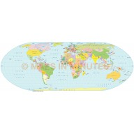 Nell Hammer Projection 100m scale UK centric world map