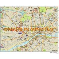 Frankfurt City map in Illustrator CS or PDF format