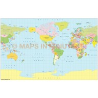 Vector World map. Braun projection digital map in Illustrator and PDF formats