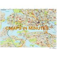 Stockholm city map in Illustrator CS or PDF format
