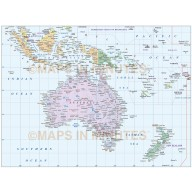 Digital vector Australasia Region Country Basic map @10,000,000 scale
