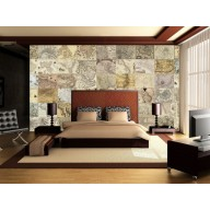 Vintage Map Collage Collection Bedroom example