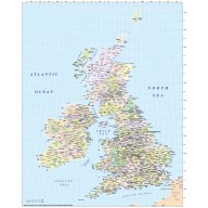 Digital vector British Isles UK County EZRead map @5,000,000 scale