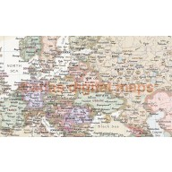 World Political and Relief Canvas Wall Map. Contemporary style with cream ocean floor.  60 inches wide x 38 inches deep