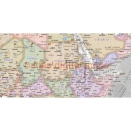 Contemporary Vinyl World Political Relief Wall Map with grey ocean floor.  60 inches wide x 38 inches deep