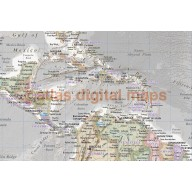 Classic fine Paper World Wall Map Regular style - 60 inches wide x 40 inches deep