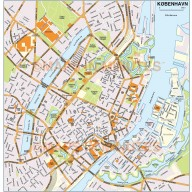 Copenhagen (København) city map in Illustrator or PDF format