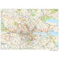 Dublin City map in Illustrator CS or PDF format
