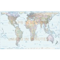 Digital vector World map, Political Gall Orthographic World Map with insets in Illustrator editable formats