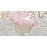 Antique style Contemporary Vinyl World Wall Map 60 inches wide x 38 inches deep