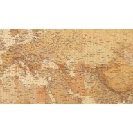 Tan Antique style Vinyl World Wall Map 60 inches wide x 38 inches deep