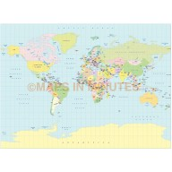 World GeoPolitical Small scale Map Collection - 20 map selection