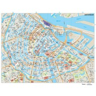 Amsterdam city map in Illustrator CS or PDF format