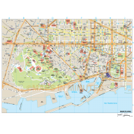 Barcelona city map in Illustrator CS or PDF format