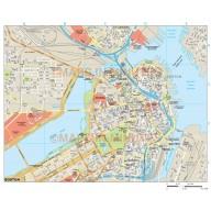 Boston city map in Illustrator CS or PDF format