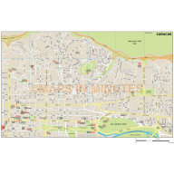 Caracas city map in Illustrator CS or PDF format