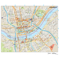 Cincinnati city map in Illustrator CS or PDF format
