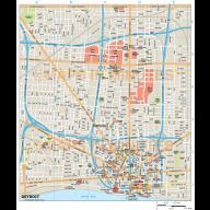 Detroit city map in Illustrator CS or PDF format