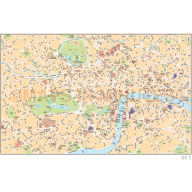 London Basic city map in Illustrator CS or PDF format area coverage.