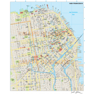 San Francisco city map in Illustrator CS or PDF format