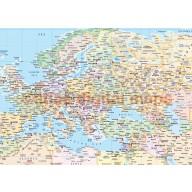 """VINYL World Political Map print - Wide 1.83m wide x .96m deep (72"""" x 38"""")"""