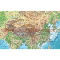 Regular style Contemporary Vinyl World Relief Wall Map 60 inches wide x 38 inches deep