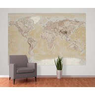 Neutral style Wall World Map 4 piece large Wall mural WM-2P