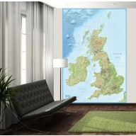British Isles Wall Mural - Large size 2 Piece Map