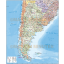 Digital vector Argentina map. Argentina Deluxe Political Map with Road & Rail plus land and sea contours. This shows the first level division layers and sea floor contours