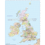 British Isles County Administrative map @5,000,000 scale