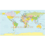 Vector world map, Equirectangular Projection. Regular colour country fills