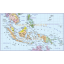Indonesia/Malaysia Political Basic Map @10M scale
