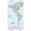 North and South America Time Zones Map in illustrator AI CS vector formats. Large scale detail
