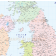 Vector British Isles UK map, Basic Country level @5,000,000 scale in Illustrator and PDF formats, detail.